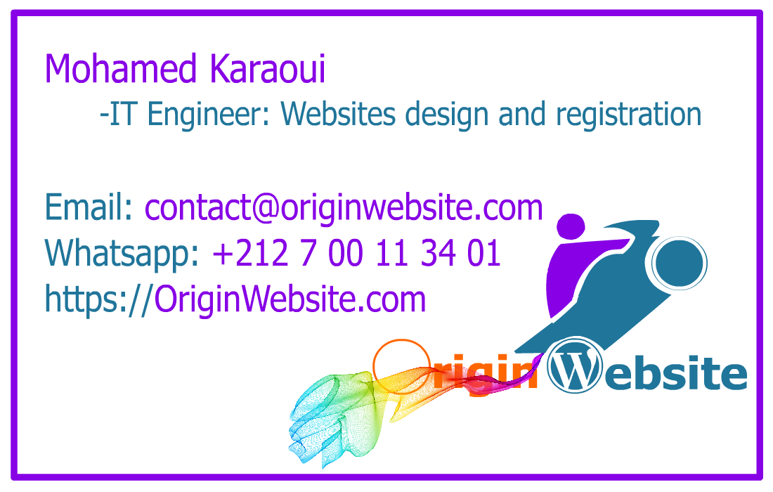 logo originwebsite card website creation au maroc